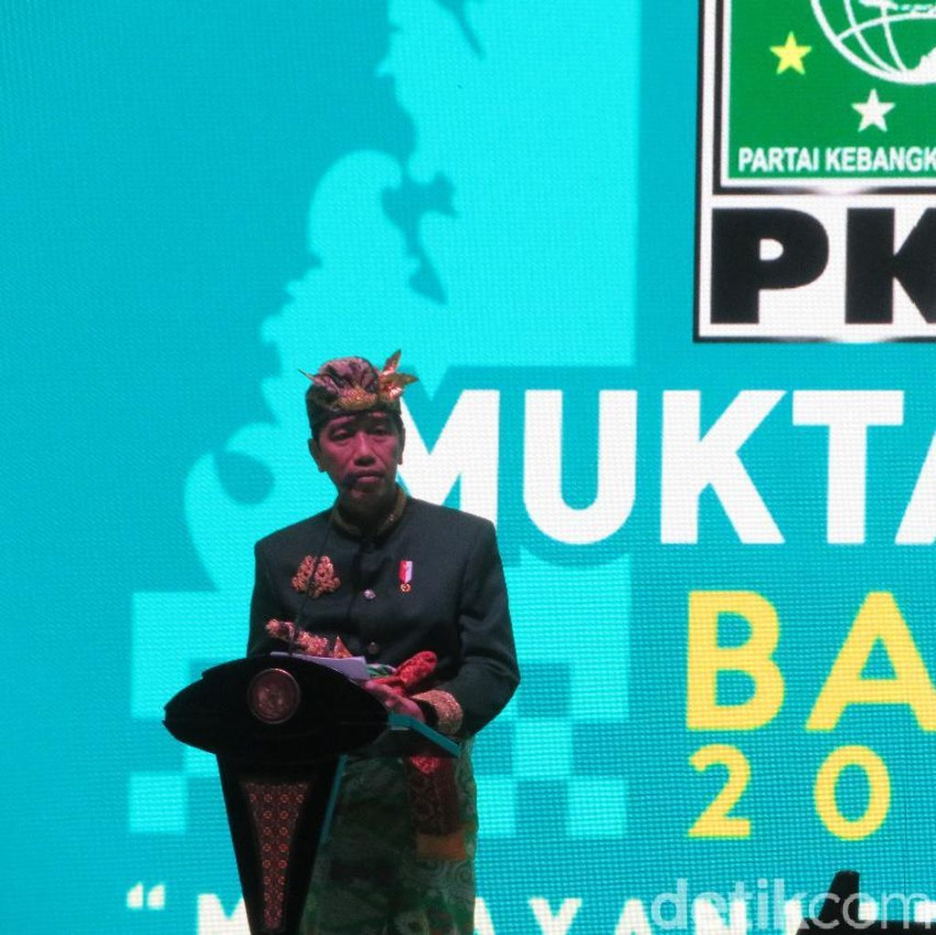 Canda Jokowi di Muktamar: Bingung Mau Pidato Apa, Sudah Diborong Cak Imin