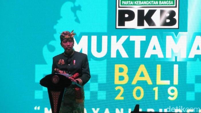 Foto: Jokowi di muktamar PKB di Bali (Noval-detik)