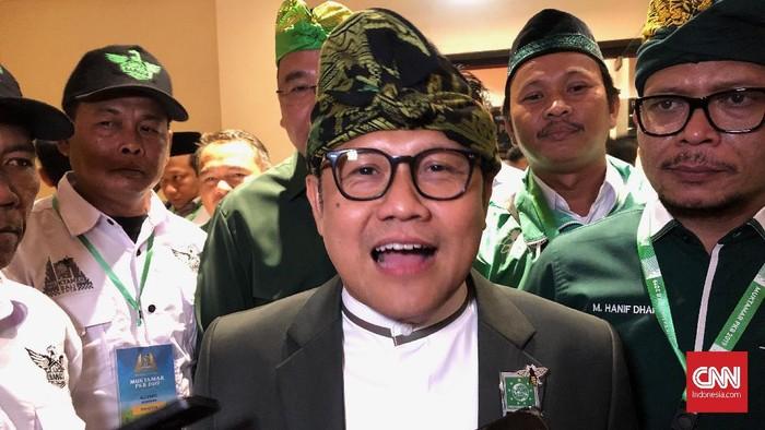Ketua Umum PKB Muhaimin Iskandar atau Cak Imin di arena Muktamar PKB, Selasa (20/8)