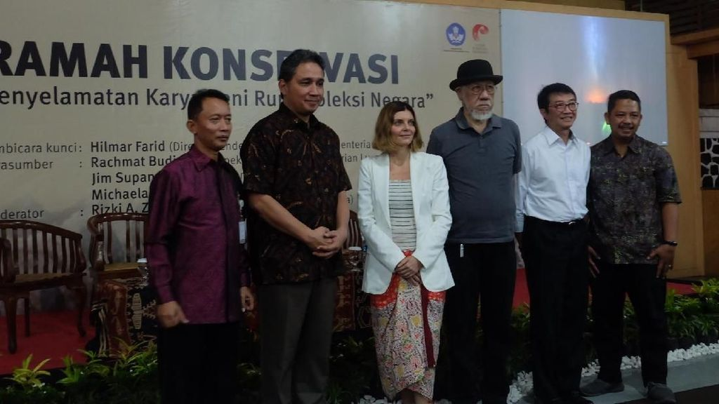 Cerita Konservator Italia Restorasi Lukisan Raden Saleh di Yogyakarta