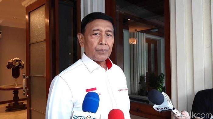 Menko Polhukam Wiranto (Rolando/detikcom)