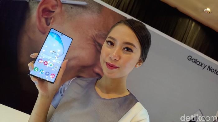 Seri Samsung Galaxy Note 10. (Foto: Adi Fida Rahman/detikINET)