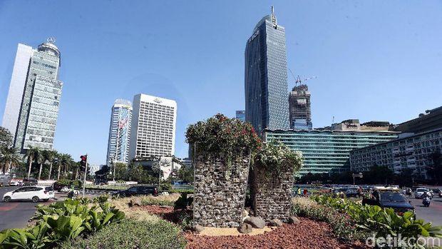 Anggaran Instalasi Batu Gabion di Bundaran HI Rp 150 Juta