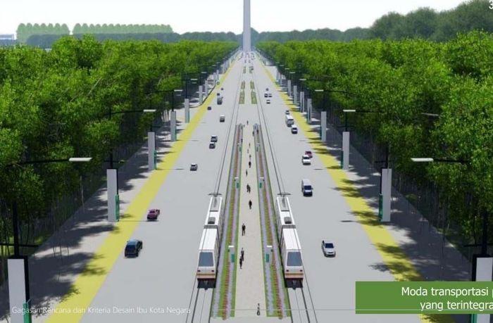 Di dokumen rancangan ibu kota baru yang didapat, lokasi ibu kota baru akan dilengkapi moda transportasi modern seperti MRT. Pool.Kementerian PUPR.