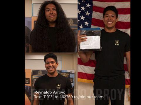 Transformasi penampilan Reynaldo yang pertama kali potong rambut setelah 15 tahun.