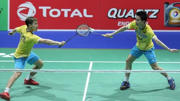 Kevin/Marcus jadi wakil Indonesia pertama yang lolos ke babak semifinal.