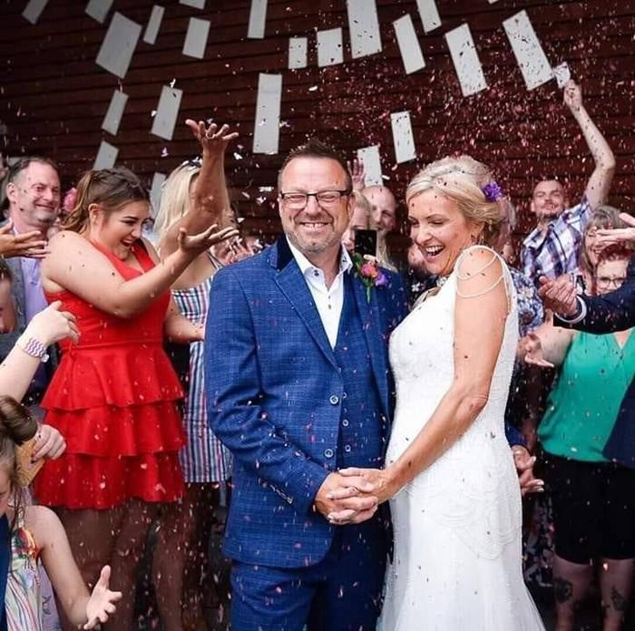 Pernikahan Dawn Winfield-Hunt dan Steve. Foto: facebook Dawn Winfield Hunt