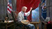 Lukisan Donald Trump Diolok-olok di Media Sosial