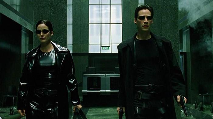 Screenshoot film The Matrix.