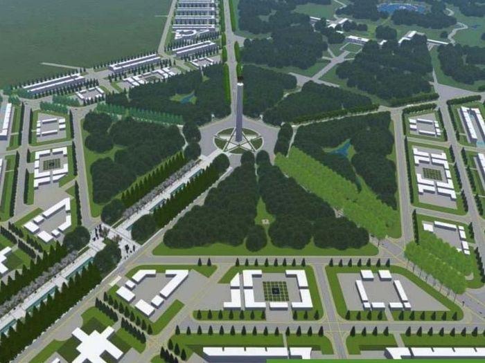Desain ibu kota baru di Kalimantan/Foto: Kementerian PUPR