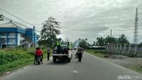 Lokasi kericuhan tak jauh dari Kantor DPRD Mimika, Jl Cendrawasih. Foto: Saiman/detikcom