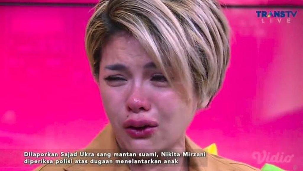 Dituding Menelantarkan Anak, Nikita Mirzani Menangis Histeris