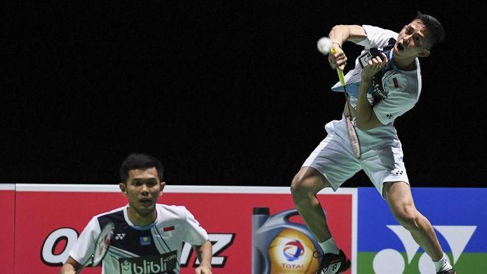 Fajar Alfian/Muhammad Rian Ardianto menjadi kartu as di SEA Games 2019. (Antara Foto)