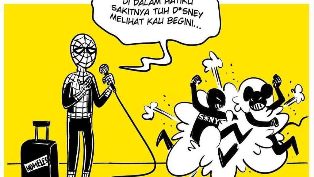 Spider-Man Keluar dari MCU, Komik Faktap Sindir Lewat Ilustrasi