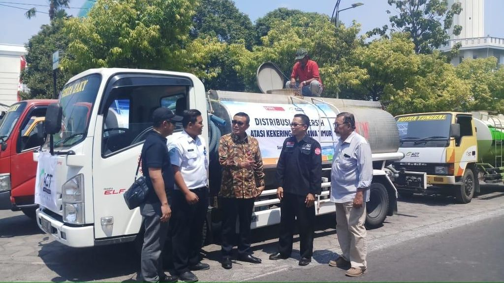 ACT Jatim Salurkan 1 Juta Liter Air Bersih Atasi Kekeringan