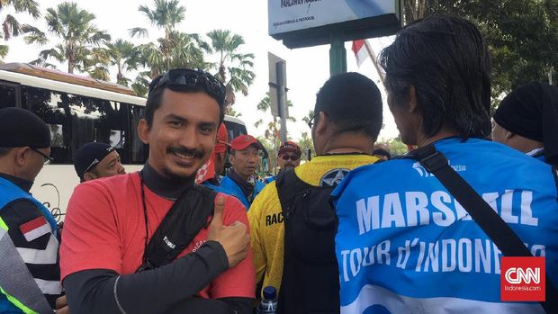 Menjadi marshal Tour d'Indonesia 2019 bisa menjadi penyaluran hobi tur pelakunya.