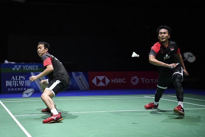 Pasangan ganda putra Indonesia Hendra Setiawan/Mohammad Ahsan melaju ke babak perempatfinal Kejuaraan Dunia Bulutangkis 2019.
