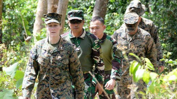 Latihan bersama marinir Indonesia dan AS/