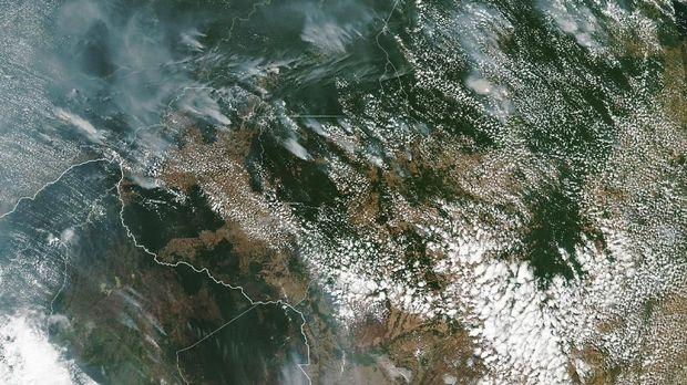 Kebakaran Hutan Amazon dari luar angkasa