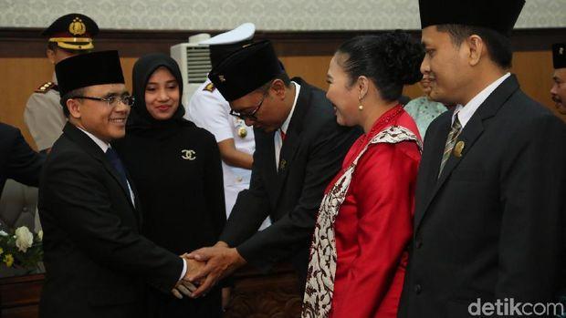 Bupati Anas bertemu anggota dewan baru/