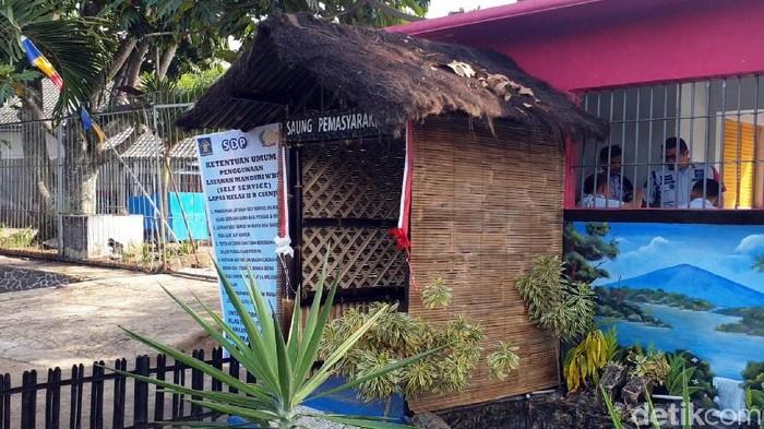 Saung Pemasyarakatan di Lapas Cianjur. (Foto: Syahdan Alamsyah/detikcom)