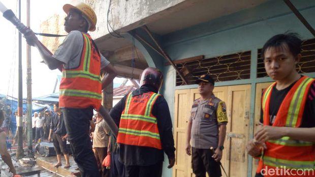 Kebakaran pasar di Inhil, Riau/