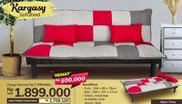 Sofa minimalis dengan harga terjangkau.
