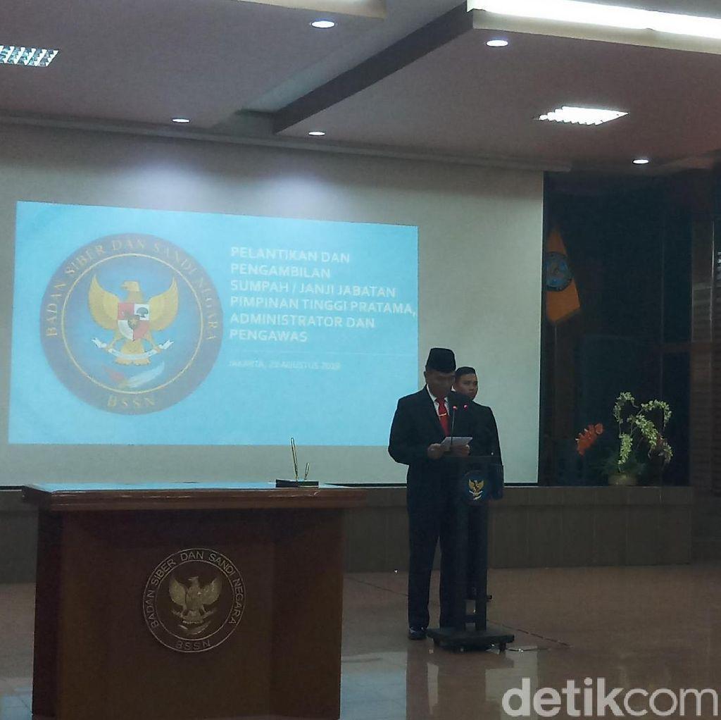 Lantik 12 Pejabat Baru, Kepala BSSN Bicara Tentang Harapan Kedaulatan Siber