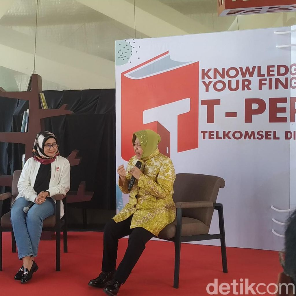 Telkomsel Dukung Risma Gerakkan Minat Baca di Surabaya