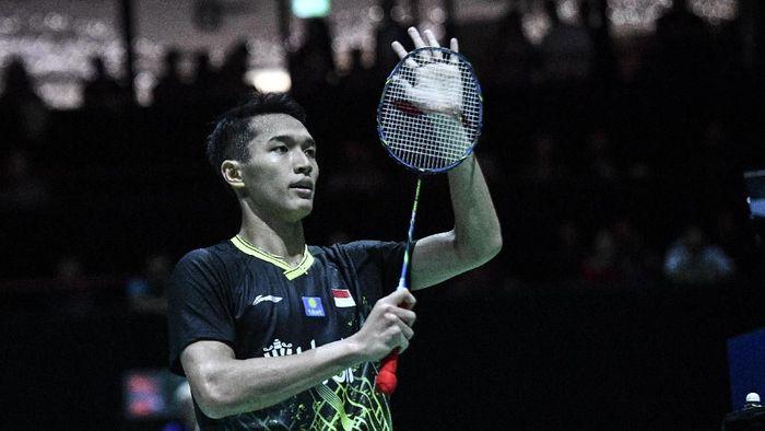Pemain tunggal putra Indonesia, Jonatan Christie akan berlaga di final French Open 2019. (Foto: Antara Foto)