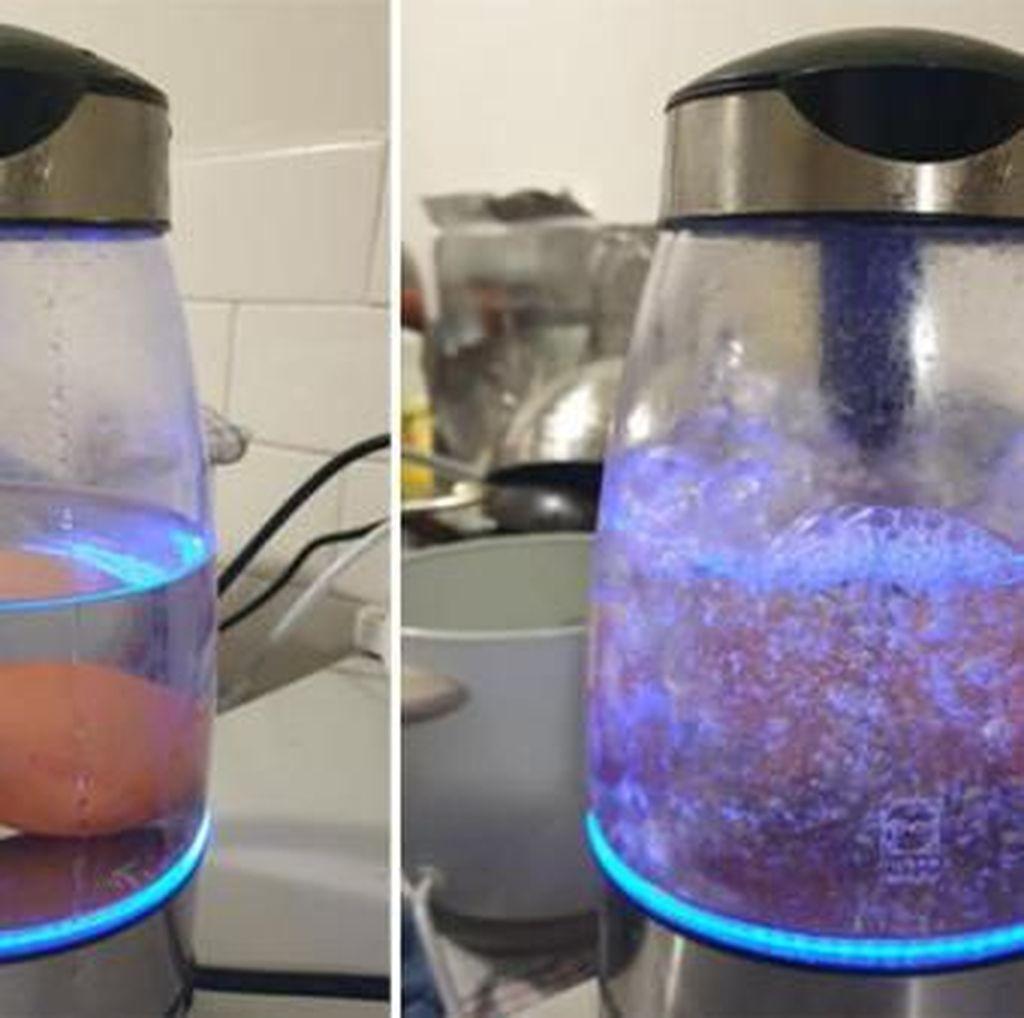 Ini Cara  Praktis Rebus Telur Pakai Teko Listrik