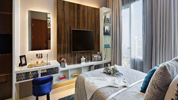 Desain interior kamar apartemen Capitol Park Residence