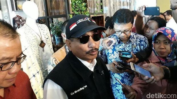 Menteri Pariwisata RI, Arief Yahya saat memberikan keterangan (Pradito/detikcom)