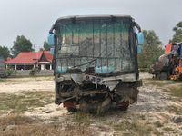 Bus Rapi yang terlibat kecelakaan.