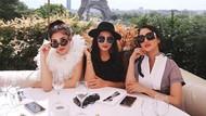 Gaya Mewah Nindy Girls Day Out Bareng Ashanty dan Ririn Ekawati di Paris