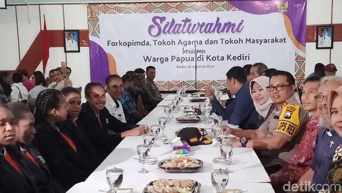 Silaturahmi Forkopimda Kota Kediri dengan Mahasiswa Papua/Foto: Andhika Dwi