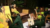 Lima Perupa Banyuwangi Bantu Pelestarian Penyu dengan Demo Lukis