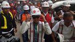 Tampil Kasual, Rini Cek LRT Jabodebek Jelang Uji Coba