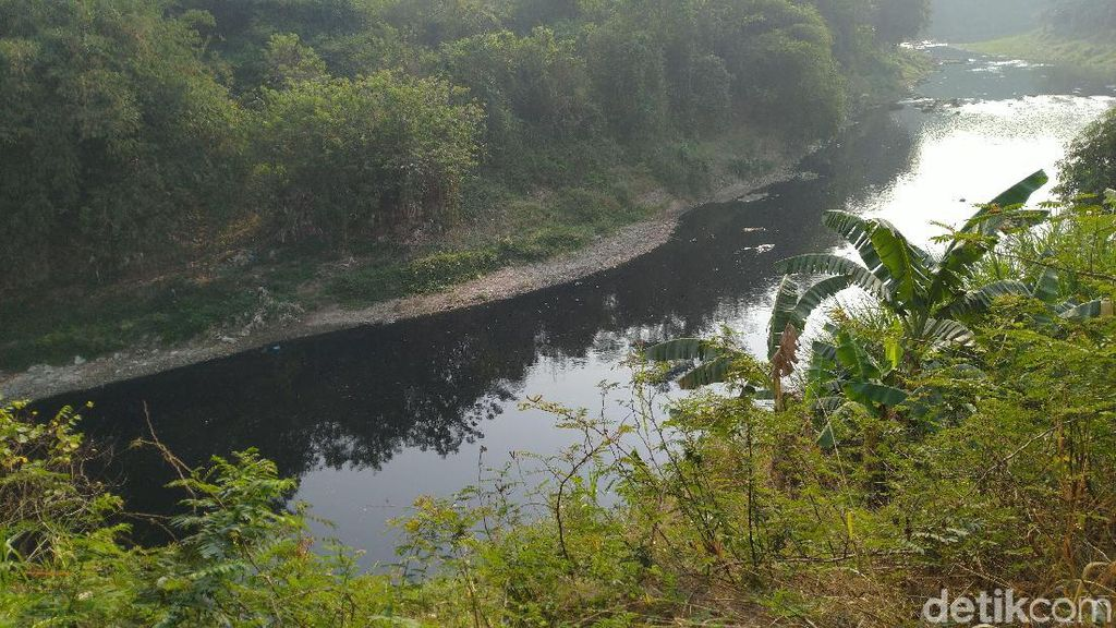 Sungai Cileungsi Jadi Hitam, Warga Mengeluhkan Bau Menyengat
