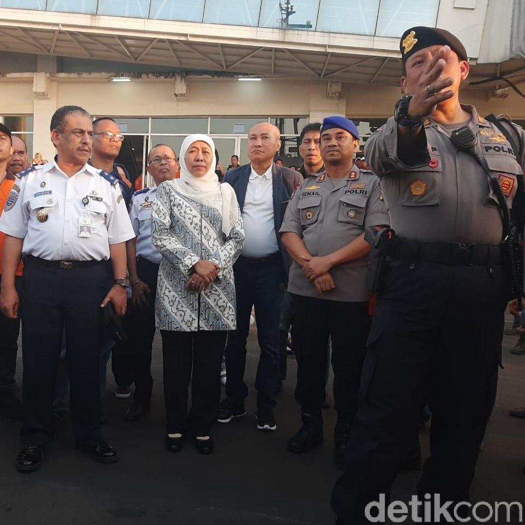 Duka Cita Gubernur Khofifah untuk Korban KM Santika Nusantara