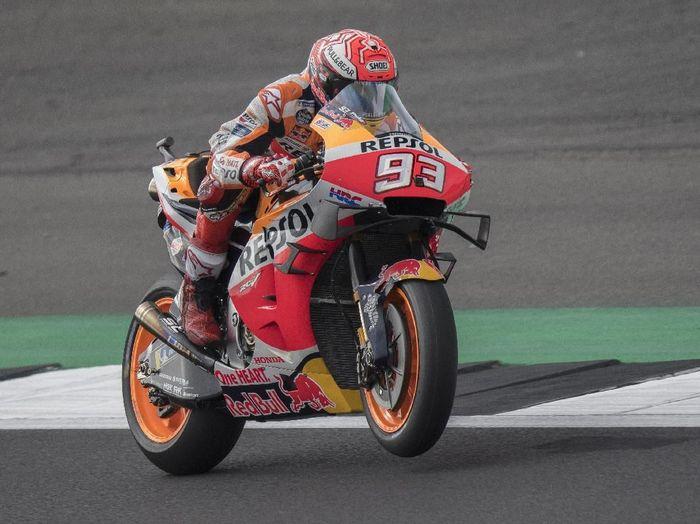 Marc Marquez meraih pole position MotoGP Inggris 2019, Valentino Rossi kedua. (Foto: Mirco Lazzari gp/Getty Images)