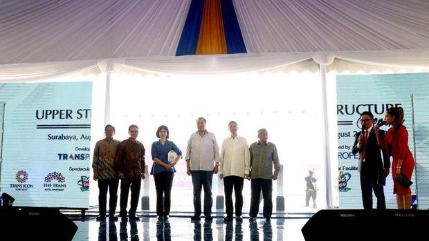 Upper Structure Tandai Mulainya Pembangunan The Trans Icon Surabaya