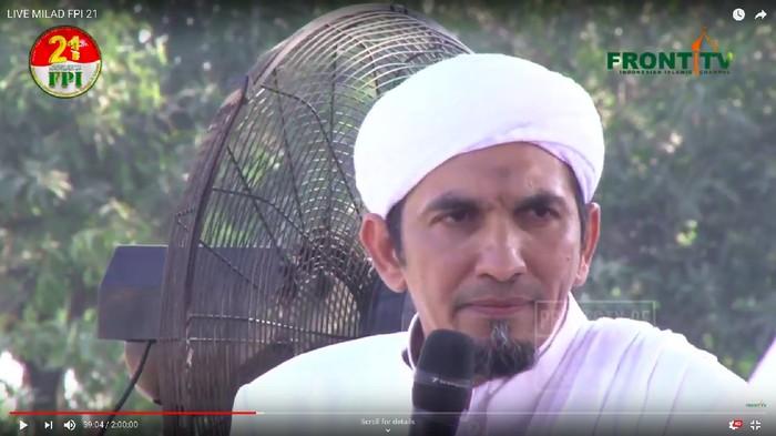 Ketum FPI Sobri Lubis (Screenshot Akun YouTube Front TV)