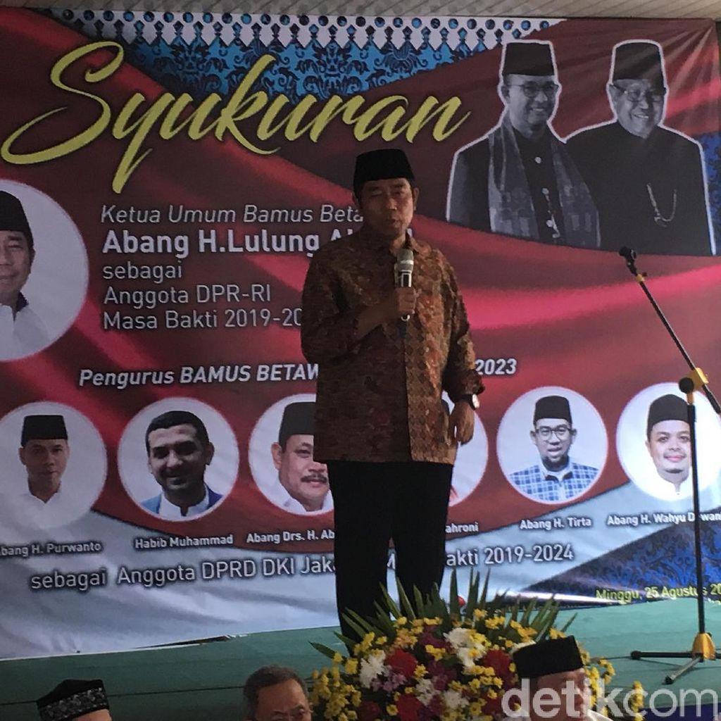 Bamus Betawi Gelar Syukuran Lulung Terpilih Jadi Anggota DPR RI