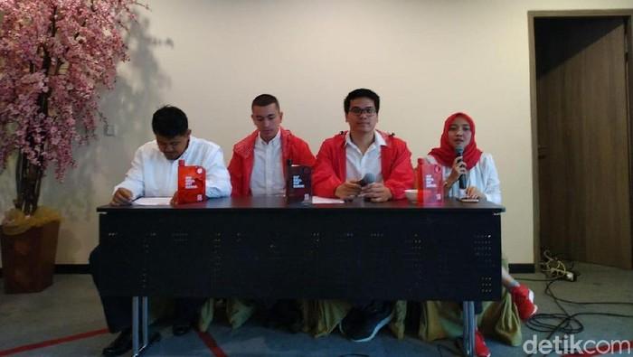 Konferensi Pers PSI (Sachril/detikcom)