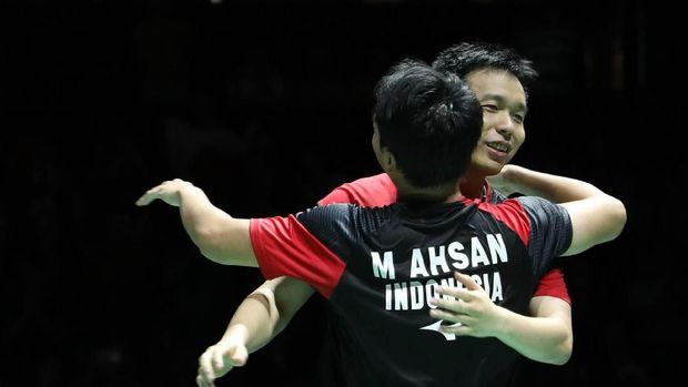 Ahsan/Hendra Tak Menyangka Raih Gelar Ketiga Kejuaraan Dunia