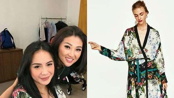 Penampilan Ayu Ting Ting Pakai Kimono, Mirip Siapa?