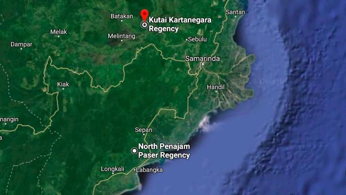 Lokasi Ibu Kota baru. Foto: Google Maps