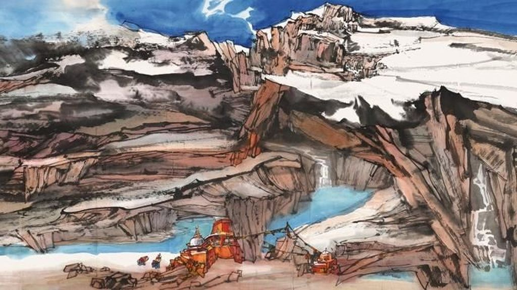 100 Lukisan Mahakarya Pelukis Lu Tianning Mejeng di Jakarta