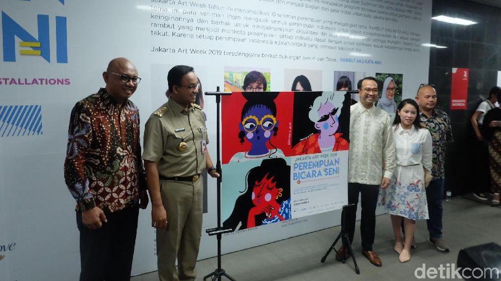 Karya 10 Seniman Perempuan Mempercantik 21 Titik Halte MRT Jakarta